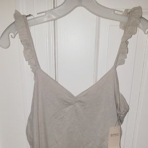 Taupe camisole tank top Buffalo brand sz L New